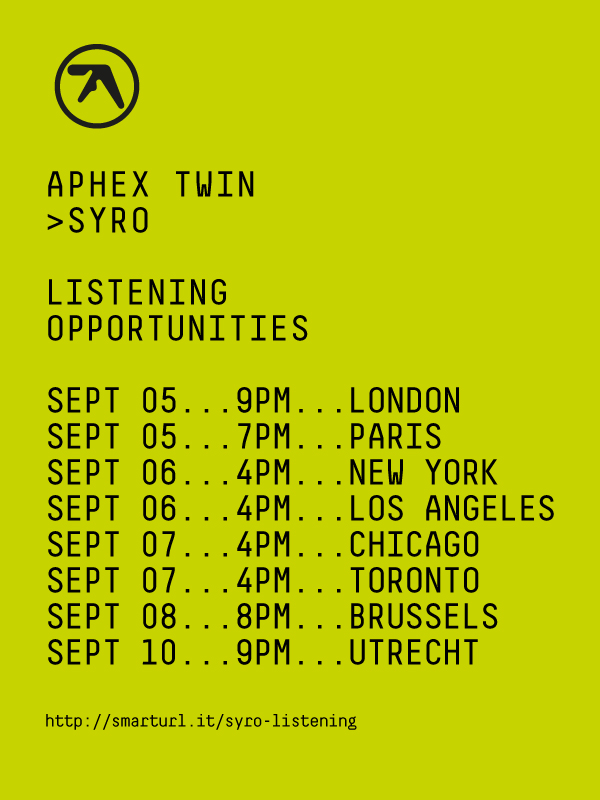 Aphex Twin listening flyer