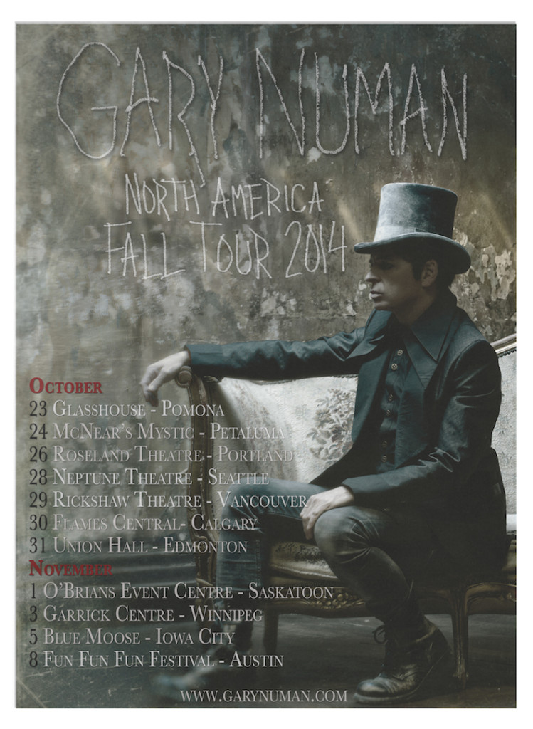 Numan Splinter tour poster