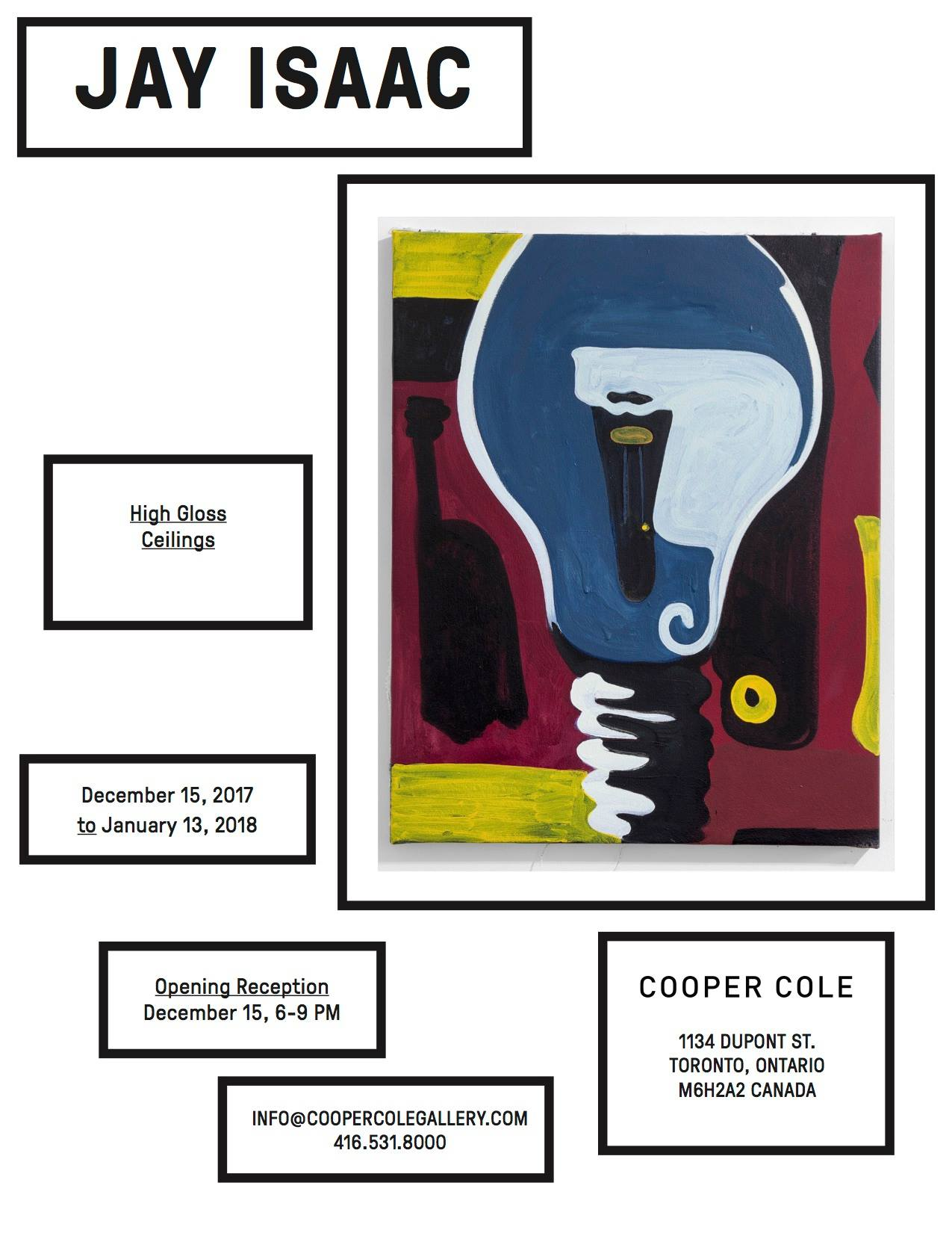 Jay Isaac: High Gloss Ceilings - Opening Reception @ COOPER COLE