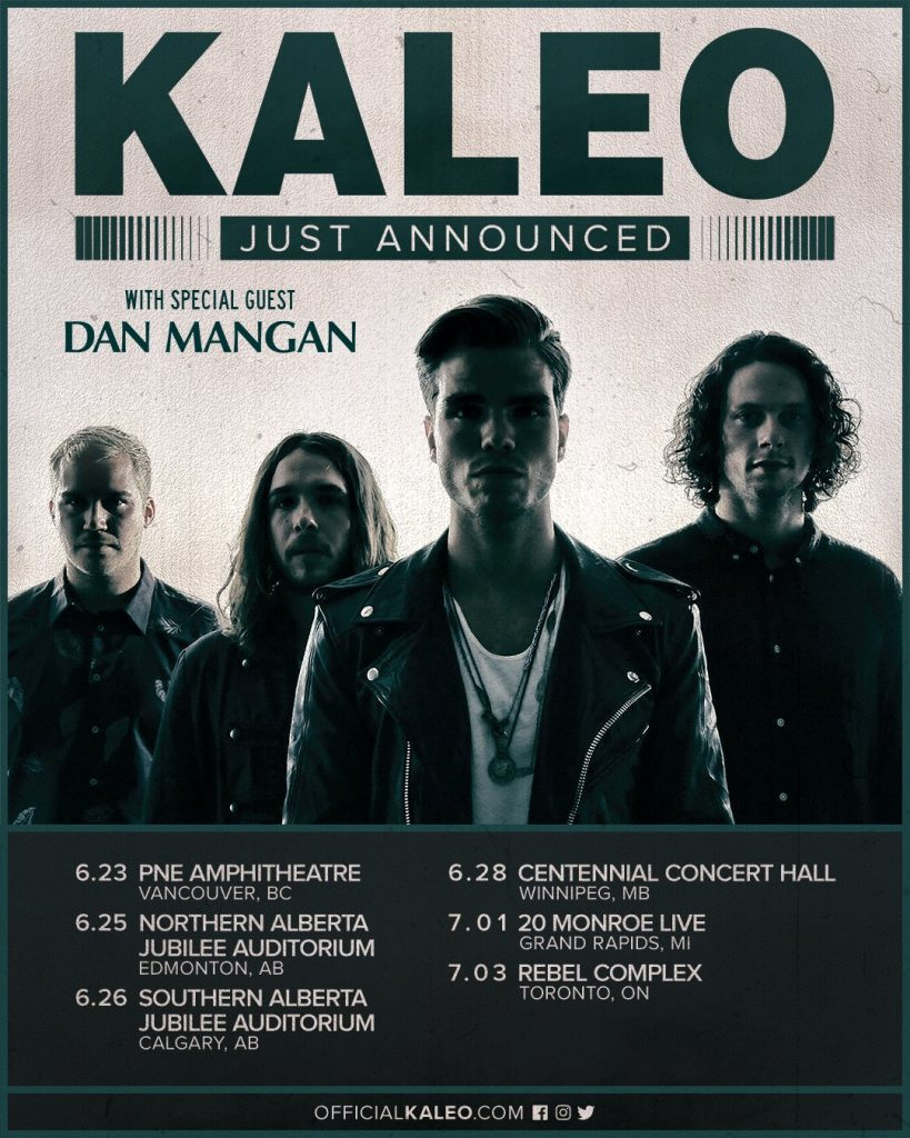 Kaleo with Dan Mangan @ Rebel