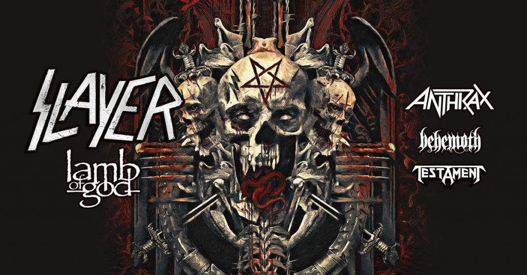 Slayer with Lamb of God, Anthrax, BEHEMOTH! + Testament @ Budweiser Stage