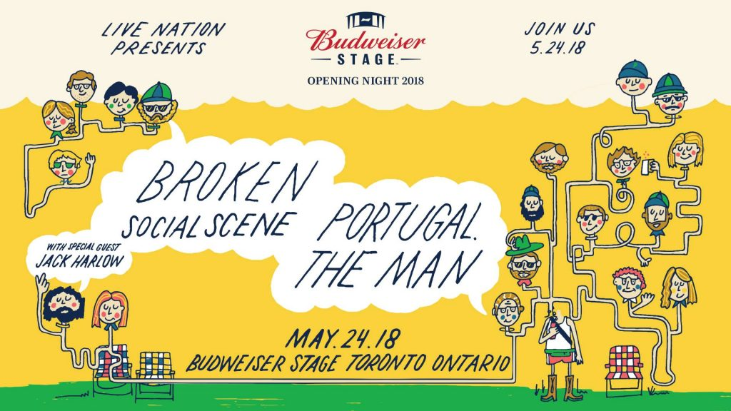 Broken Social Scene + Portugal. The Man @ Budweiser Stage