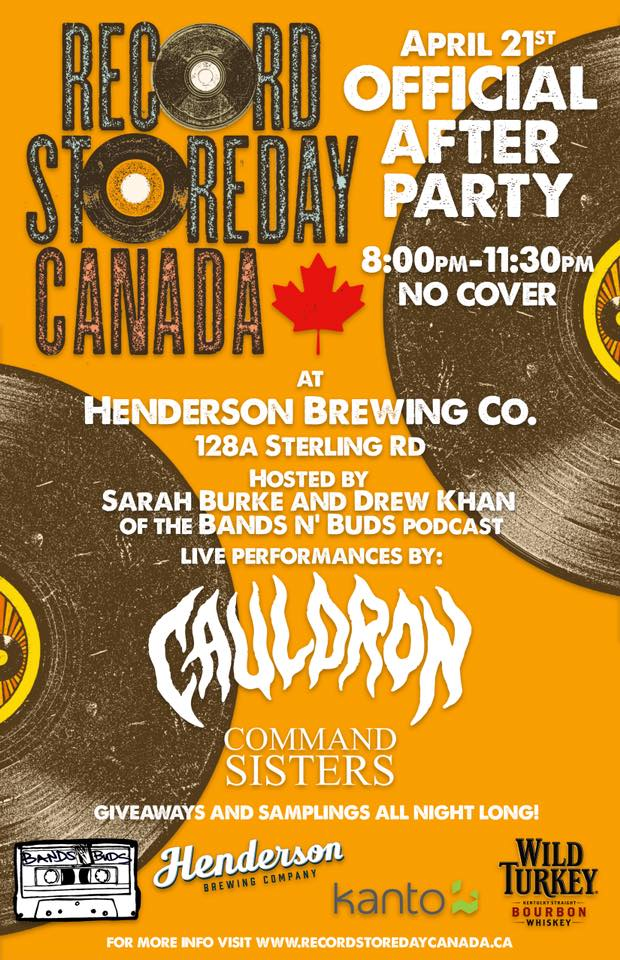 Record Store Day Canada OFFICIAL Afterparty @ Henderson Brewing Co