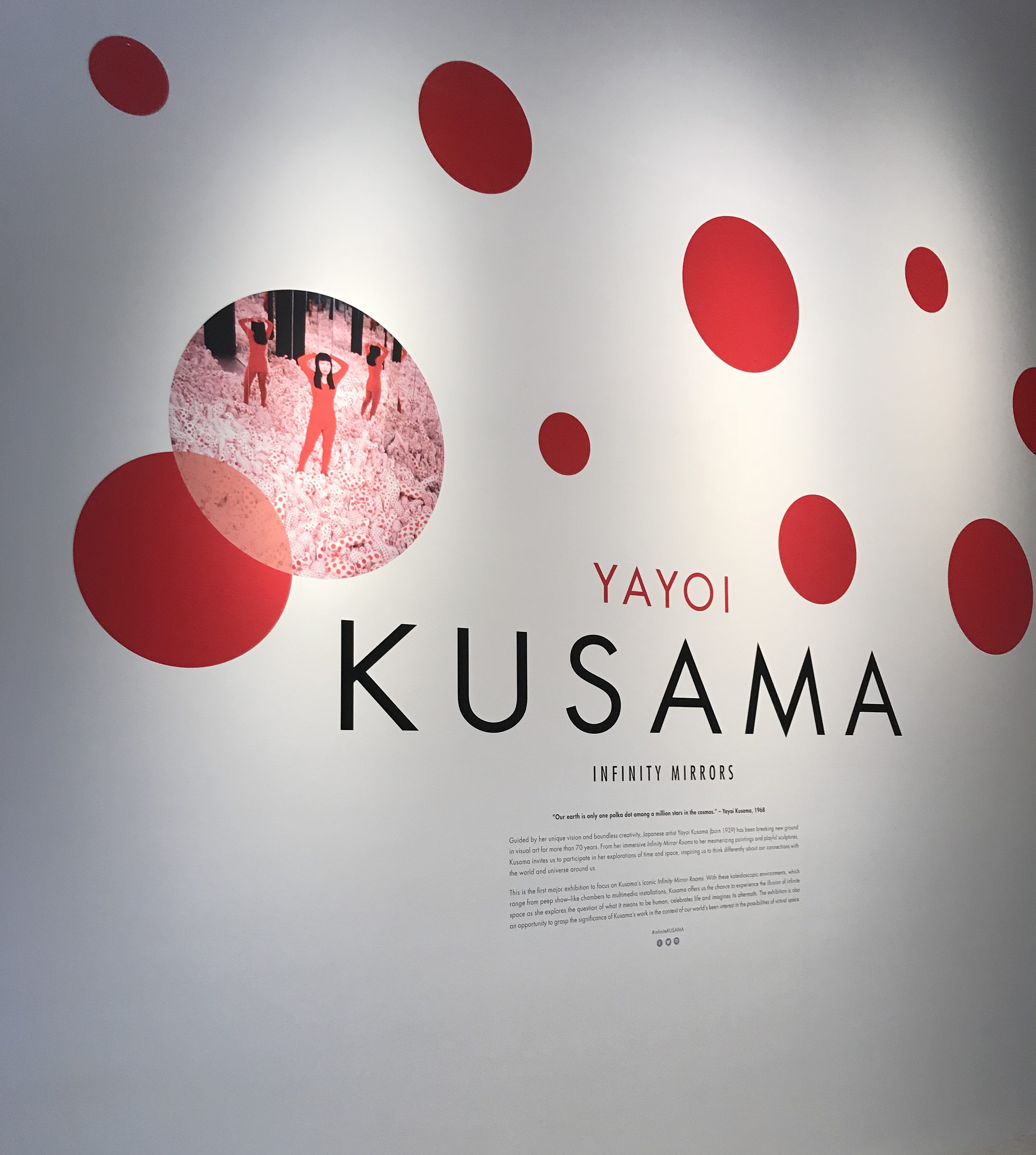 Infinite Kusama entrance